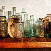 Doctor - Row Of Medicine Bottles Art Print
