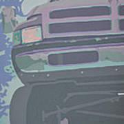 Dodge Ram With Decreased Color Value Art Print