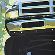 Dodge Ram With Green Hue Art Print