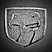Dodge Viper Emblem -217bw Art Print