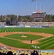 Dodger Stadium Panorama Art Print by Eddie Yerkish