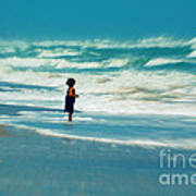 Does The Ocean Ever Stops Art Print