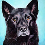 Does This Include Me Black Dog Art Print