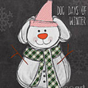 Dog Days  Art Print by Linda Woods