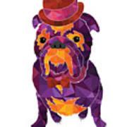 Dog Gentleman Art Print