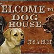 Dog House Art Print by JQ Licensing