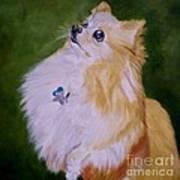Dog Kuki Art Print
