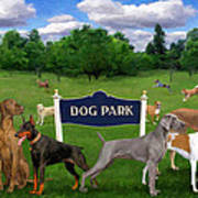 Dog Park Art Print