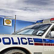 Dog River Police Car Art Print
