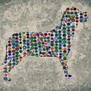 Dog Silhouette Digital Art Art Print