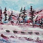 Dog Sled Art Print