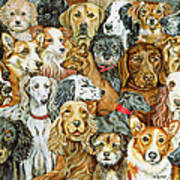 Dog Spread Art Print by Ditz