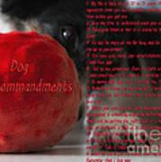 Dog Ten Commandments Art Print