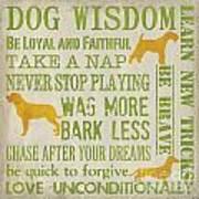 Dog Wisdom Art Print