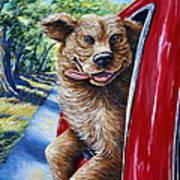 Dog...gone Happy Art Print