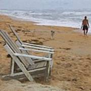 Dogs On The Beach Art Print