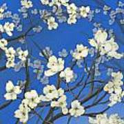 Dogwood Trees Art Print