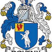 Doheny Coat Of Arms Irish Art Print