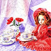 Doll At The Tea Party  Art Print