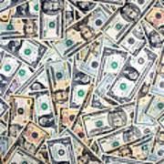 Dollar Background Art Print