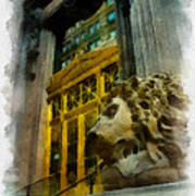 Dollar Bank Lion Pittsburgh Art Print