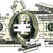 Dollar Puzzle-2 Art Print