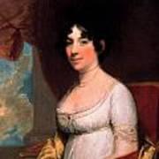 Dolley Payne Madison Art Print by Gilbert Stuart