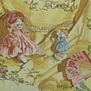 Dolly With Fan Art Print