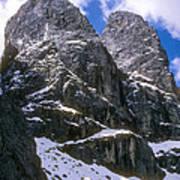 Dolomite Twin Peaks Art Print