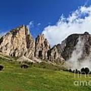 Dolomites In Badia Valley  Art Print