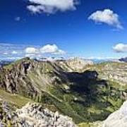 Dolomites Landscape On Summer Art Print