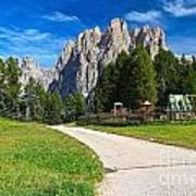 Dolomiti - Gardecia With Catinaccio Mount Art Print