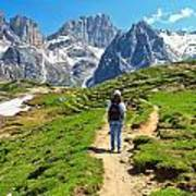 Dolomiti - Hiking In Contrin Valley Art Print