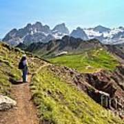 Dolomiti - Trekking In Val Ldi Fassa Art Print