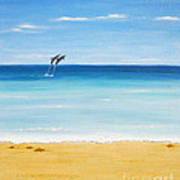 Dolphin Beach Art Print