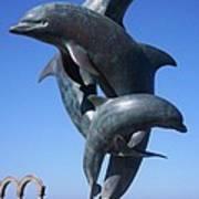 Dolphin Dance Art Print