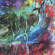 Dolphin Dives Art Print