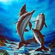 Dolphin Family Art Print