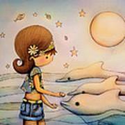 Dolphin Paradise Art Print by Karin Taylor