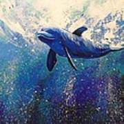 Dolphin Play Art Print