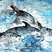 Dolphins In Gran Canaria Art Print
