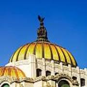 Dome Of Palacio De Las Bellas Artes Art Print