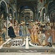 Domenico Di Bartolo 1400-1447. Pope Art Print