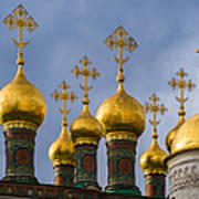 Domes Of The Church Of The Nativity Of Moscow Kremlin - Featured 3 Art Print