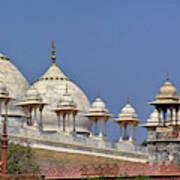 Domes On Mosque, Delhi, India Art Print