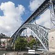 Don Luis Bridge In Oporto Art Print