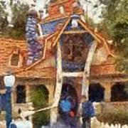 Donalds Boat Disneyland Toon Town Photo Art 02 Art Print