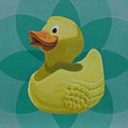 Don't Give A Rubber Duck Art Print