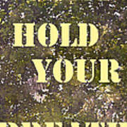 Dont Hold Your Breath Art Print