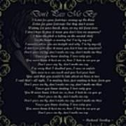 Dont Pass Me By Golden Scroll Art Print
